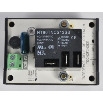 Interface Borne Rele Potência 220VAC 40A