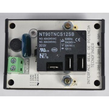 Interface Borne Rele Potência 24VDC/AC 40A